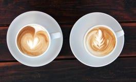 Deux tasses de café Photo stock