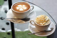 Deux tasses de café Image stock