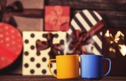 Deux tasses de café Images libres de droits