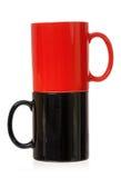 Deux tasses de café de couleur Photos libres de droits