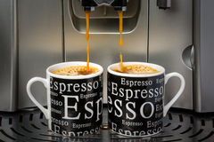 Deux tasses de café express Photo stock