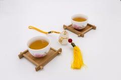 Deux tasses en céramique chinoises Images libres de droits