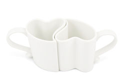 Deux tasses en forme de coeur Image libre de droits
