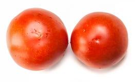 Deux tomates rouges Images stock