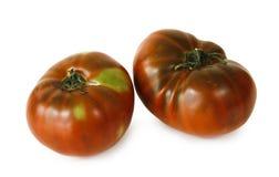 deux tomates sur le fond blanc photographie stock libre de droits