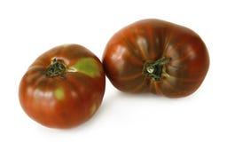 deux tomates sur le fond blanc photos stock