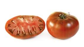 deux tomates sur le fond blanc images stock