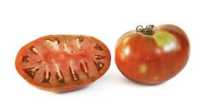 deux tomates sur le fond blanc image libre de droits