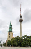 Deux tours, Berlin Image libre de droits