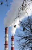 Deux tours de fumage. Image libre de droits