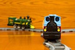 Deux trains de jouet Photos libres de droits