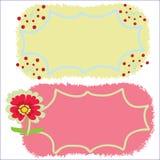 Deux trames avec des fleurs Images libres de droits