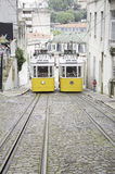 Deux trams Photo stock