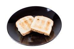 Deux tranches de pain entières de grain Image stock