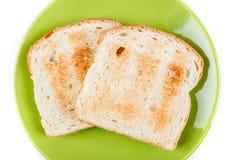 Deux tranches de pain entières de grain grillées Images libres de droits