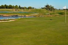 Deux trous de golf Photos stock