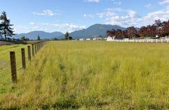 Deux types de clôture rurale Photographie stock libre de droits