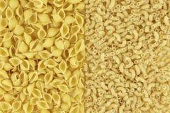 Deux types de pâte Fond, texture photographie stock