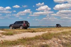 Deux véhicules Photos libres de droits