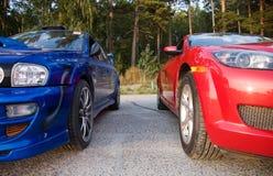Deux véhicules Images libres de droits