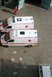 Deux véhicules d'ambulance Photographie stock