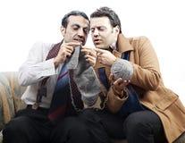 Leçon de tricotage supérieure d'aspirant photos libres de droits