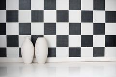 Deux vases en céramique Images libres de droits
