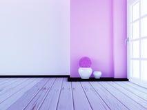 Deux vases sur le plancher, 3d Images libres de droits