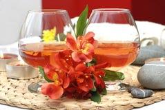 Deux verres à vin Photos stock
