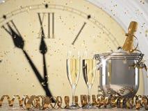 Deux verres avec le champagne et la bouteille rendu 3d illustration de vecteur