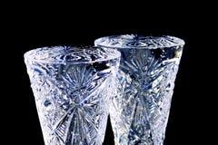 Deux verres cristal photographie stock libre de droits