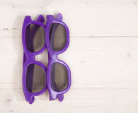 Deux verres 3D Images stock