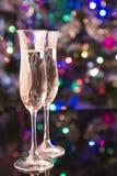 Deux verres de champagne Photographie stock libre de droits