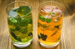Deux verres de limonade Photographie stock libre de droits