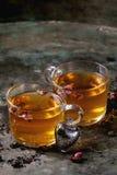 Deux verres de thé chaud Photos libres de droits