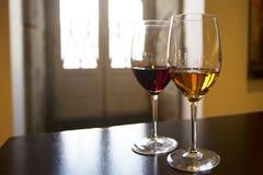 Deux verres de vin de port Photographie stock libre de droits