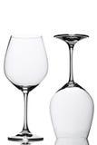 Deux verres de vin Photographie stock libre de droits