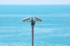 Deux vidéos surveillance Photos stock