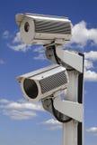 Deux vidéos surveillance de garantie Photo stock