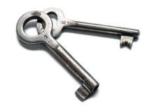 Deux vieilles clés Photos stock