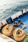Deux vieilles cordes laineuses Photos libres de droits