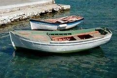 Deux vieux bateaux photo libre de droits
