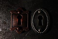 Deux vieux blocages Image libre de droits