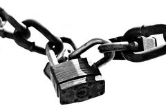 Deux vieux blocages dans le highkey Photos libres de droits