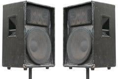 Deux vieux haut-parleurs d'acoustique de concert Images stock