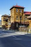 Deux villas jumelles dans Zakopane en Pologne Images stock