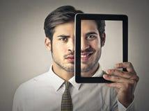 Deux visages Photo libre de droits