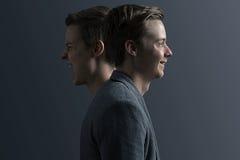 Deux visages Photographie stock