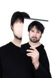 Deux visages - confus Photographie stock
