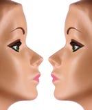 Deux visages de mannequin Photo libre de droits